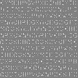 Картина архитектурноакустического шрифта светокопии безшовная для предпосылки стоковое изображение