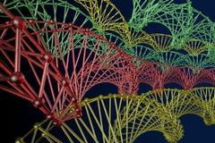 Картина атома решетки массива стоковая фотография rf