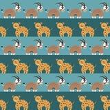 Картина африканских животных безшовная иллюстрация вектора