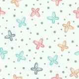 картина бабочек безшовная Нарисовано вручную бесплатная иллюстрация