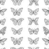 картина бабочек безшовная черная белизна бесплатная иллюстрация