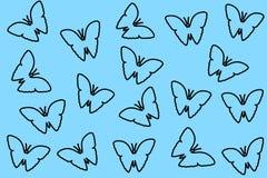 картина бабочек безшовная Стоковая Фотография RF