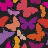 картина бабочек безшовная Иллюстрация вектора