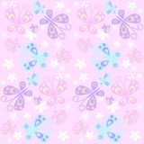 картина бабочки безшовная Стоковое Фото