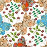 картина бабочки безшовная иллюстрация вектора