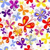 картина бабочки безшовная Стоковое Изображение