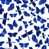 картина бабочки безшовная Стоковое фото RF