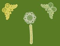 картина бабочки bookmark Стоковое Изображение