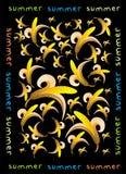 картина банана безшовная Стоковая Фотография