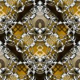 Картина барочного вектора безшовная Современное геометрическое орнаментальное gra бесплатная иллюстрация
