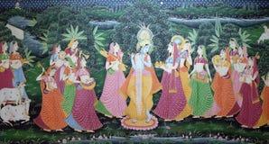 Картина батика традиционная индийская silk Стоковое Изображение