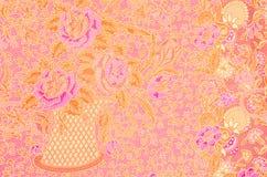 Картина батика, традиционное тайское Стоковые Изображения