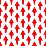 картина безшовная белизна предпосылки стрелки красная Стоковые Изображения