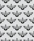 картина безшовная Вручите вычерченного черного стилизованного голубя покрашенного чернилами Птица голубя Предпосылка вектора Стоковые Фотографии RF
