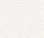 картина безшовная Декоративные стилизованные цветки и бабочки Текстура предпосылки вектора абстрактная Стоковые Фотографии RF