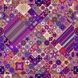 картина безшовная декоративный сбор винограда элементов рука нарисованная предпосылкой Ислам, арабский, индийский, мотивы тахты Стоковое Изображение RF