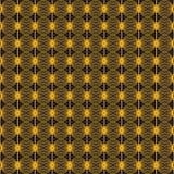 картина безшовная Золотая почта на черной предпосылке стоковое изображение rf