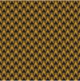 картина безшовная Золотая почта на черной предпосылке стоковые изображения