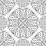 картина безшовная Круговая стильная предпосылка Вектор повторяя текстуру иллюстрация штока