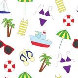 картина безшовная Лето и море Стоковая Фотография RF