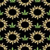 картина безшовная марихуана Стоковые Изображения