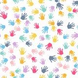 картина безшовная Печать рук детей бесплатная иллюстрация
