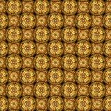 картина безшовная Равномерно размеченные круги с декоративными свирлями Нарисовано вручную бесплатная иллюстрация