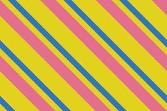 картина безшовная Розовые нашивки на желтой предпосылке Striped раскосная картина для печатать на ткани, бумаге, оборачивая Стоковая Фотография