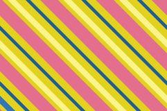 картина безшовная Розовые нашивки на желтой предпосылке Striped раскосная картина для печатать на ткани, бумаге, оборачивая Стоковые Фотографии RF