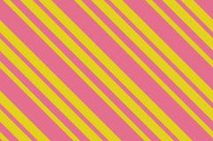картина безшовная Розовые нашивки на желтой предпосылке Striped раскосная картина для печатать на ткани, бумаге, оборачивая Стоковые Изображения RF