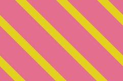 картина безшовная Розовые нашивки на желтой предпосылке Striped раскосная картина для печатать на ткани, бумаге, оборачивая Стоковое Фото