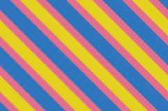 картина безшовная Розовые нашивки на желтой предпосылке Striped раскосная картина для печатать на ткани, бумаге, оборачивая Стоковое Изображение