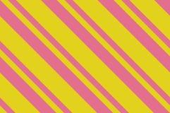 картина безшовная Розовые нашивки на желтой предпосылке Striped раскосная картина для печатать на ткани, бумаге, оборачивая Стоковое Изображение RF