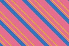 картина безшовная Розовые нашивки на желтой предпосылке Striped раскосная картина для печатать на ткани, бумаге, оборачивая Стоковая Фотография RF
