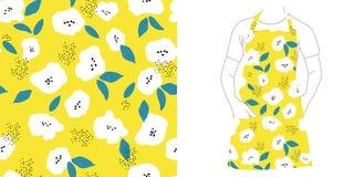 картина безшовная Семена и цветки иллюстрация вектора