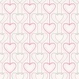 картина безшовная Сердца и линии геометрическо бесплатная иллюстрация