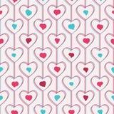 картина безшовная Сердца и линии геометрическо иллюстрация вектора