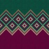 картина безшовная Текстура орнамента Knit шерстяная ультрамодная Стоковые Фото