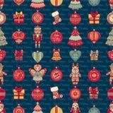 картина безшовная Тип рождества Стоковые Фотографии RF