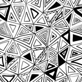 картина безшовная Треугольники геометрии покрашенные рукой Иллюстрация вектора