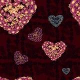 картина безшовная Цветки и листья - фоновое изображение акварели - декоративный состав Стоковое фото RF