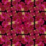 картина безшовная Цветки и листья - фоновое изображение акварели - декоративный состав Стоковые Фотографии RF