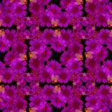 картина безшовная Цветки и листья - фоновое изображение акварели - декоративный состав Стоковое Фото