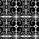 Картина безшовного вектора черно-белая от абстрактных лист стоковое изображение rf