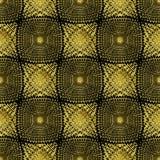 Картина безшовного конспекта золота геометрическая с пунктами Иллюстрация штока