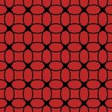 Картина безшовного конспекта ретро геометрическая Смешанные круги, звезды и овалы в вертикальном плане бесплатная иллюстрация
