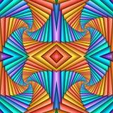 Картина безшовного конспекта свирли праздничная, голубой, оранжевая Крыть черепицей черепицей картина Геометрическая мозаика Боль бесплатная иллюстрация