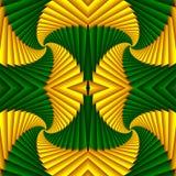Картина безшовного конспекта свирли праздничная, желтый, зеленая Ая черепицей картина Геометрическая мозаика Большой для гобелена иллюстрация штока