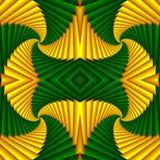 Картина безшовного конспекта свирли праздничная, желтый, зеленая Крыть черепицей черепицей картина Геометрическая мозаика Большой бесплатная иллюстрация