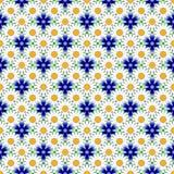 Картина безшовного красочного цветка дизайна декоративная иллюстрация вектора